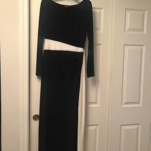 Calvin Klein Color Block Black And White Gown